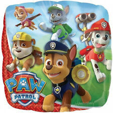 "PAW PATROL PARTY SUPPLIES BALLOON 17"" SQUARE GROUP ANY OCCASION ANAGRAM BALLOON"