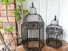 A Set of 2 Iron Handmade Ornamental Bird Cage Wedding Wishing Well BRASS HYL010