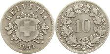 Schweiz, 10 Rappen 1851 BB