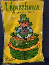 New ListingBeistle St. Patrick's Day Leprechaun Art Tissue Honeycomb Centerpiece Vintage