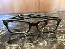 Brown Cat Eye Glasses W Rhinestones Unused 1950's Eyeglasses NOS FRENCH Frames