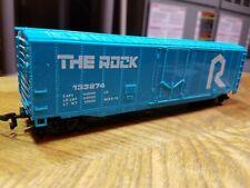 G2 HO TRAIN BOX Car THE ROCK BOX CAR Blue White 133274 Horn Hook