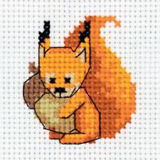 Klart Counted Cross Stitch Kit - Baby Squirrel - 11 ct Aida