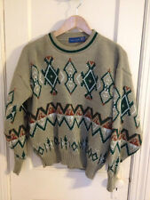 TOWNCRAFT SWEATER Crew Neck Ski Nordic Vintage USA Acrylic M