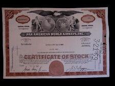 """""""Pan American World Airways, Inc:"""", marrón, Hist. valor de papel, US-aeronáutica multinacional"""