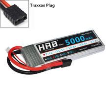 HRB RC Lipo Battery 5000mah 2S 7.4V 50C TRX Plug  for Traxxas Car Truck Airplane