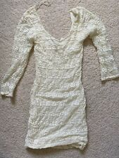 Bnwt Jane Norman Cream Lacy Short Stretchy Dress Size 10 Low Back