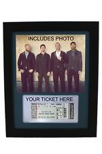 Framed Display per il tuo BIGLIETTO CONCERTO COLDPLAY-Include PIC/Ticket titolare