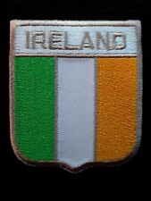 IRELAND RUGBY FOOTBALL NATIONAL COUNRTY SHIELD FLAG EMBROIDERED PATCH UK SELLER