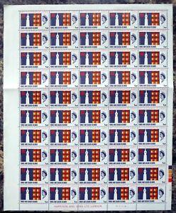 TURKS & CAICOS ISLANDS 1966 UNESCO 1d SG271 Complete Sheet of 50 DK762