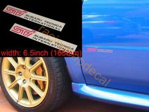 "6.5"" 165mm Side Door Decal Sticker for tecnica sti wrx impreza GDB GDA GGB F 9 C"