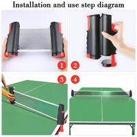 Neu Tischtennisnetz ausziehbar, TT Netz, Table Tennis Net, Pingpong Netz mobil