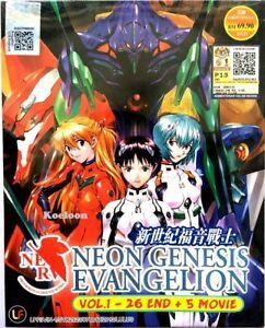 DVD Anime Neon Genesis Evangelion Complete Series (1-26) + 5 Movies English Dub*