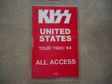 "KISS ""UNITED STATES TOUR 1983/84"" ORIGINAL LAMINATED BACKSTAGE PASS"
