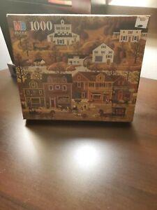 Vintage New Factory Sealed Charles Wysocki Americana MB 1000 Piece Puzzle