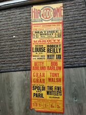 More details for  variety theatre poster 1934,st helens hippodrome, betty aukland,irish robert re