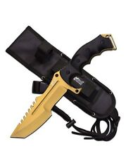 Mtech Xtreme Gold Military Combat Fighter Bowie Knife 5mm Full Tang MX-8054GD