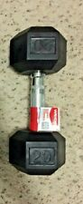 NEW Weider 20 Lb Dumbbell SINGLE Rubber Coated Hex Weight 20 Total Pounds