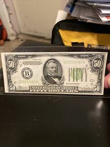 *⭐️RARE UNC⭐️* $50 1934 LGS LIME (( LIGHT GREEN SEAL )) (( VF+ )) DAILY CURRENCY