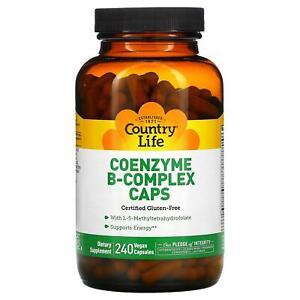 Country Life, Coenzyme B-Complex Caps, 240 Vegan Capsules
