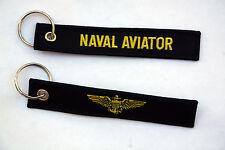 US NAVAL AVIATION AVIATOR KEY CHAIN RING MILLITARY PILOT WING TOPGUN HAT PIN UP!