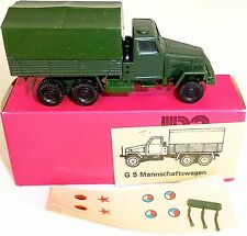 G5 Mannschaftswagen Armee DDR VEB MINI CAR 1015/2 OVP H0 #HN5 å