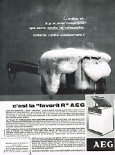 PUBLICITE ADVERTISING 054  1966   AEG   lave vaisselle
