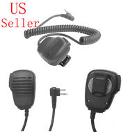 Speaker Microphone PTT 2-Prong Connector for MOTOROLA Portable Two-Way Radio