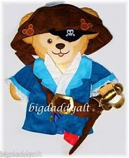 """New Disney Duffy 17"""" Bear Plush Pirate Costume Clothes Outfit Parks Exclusive"""