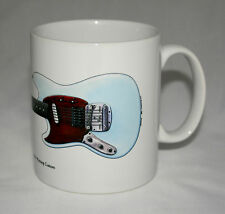 Guitar Mug. Kurt Cobain's Fender Mustang Custom illustration.