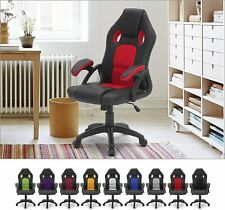 More details for office racing gaming chairs swivel leather recliner computer chair executive