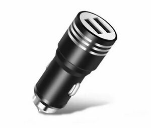 USB METAL CAR CHARGER ADAPTER FAST CHARGING APPLE SAMSUNG LG NOKIA SONY ETC