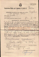 COMMISSIONE MEDICA PENSIONI DI GUERRA CAPITANO REGIO ESERCITO 1948 C9-1113