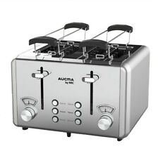 Toaster 4 Scheiben Edelstahl mit Brötchenaufsatz Sandwich Aufwärmfunktion 1850W