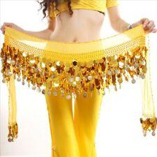 Dancer Sequin Waistband Belly Dance Costume Waist Belt Hip Wrap Scarf Tassel