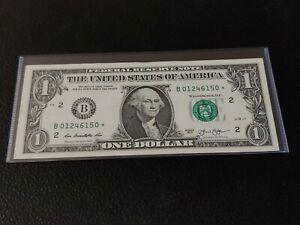 2013 $1 B series DOLLAR STAR NOTE B01246150* NEW YORK Circulated