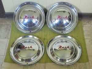 "52 53 54 55 Nash HUBCAPS 15"" Set of 4 Wheel Covers 1952 1953 1954 1955 Hub Caps"