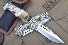 Camping Pocket Folding Knife Outdoor Hunting Survival Collect EDC Elk Pattern