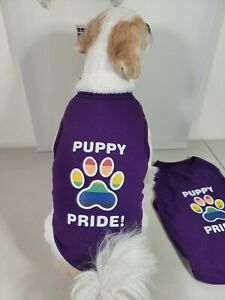 """Dog Puppy Cat Clothes Apparel """"PUPPY PRIDE"""" Shirt Top For  S,M,L,XL"""