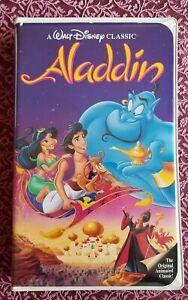 DISNEY Aladdin VHS Black Diamond Classic Collection 1993