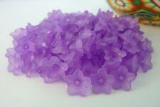 200 pce Transparent Purple Acrylic Flower Beads 10mm Jewellery Making Craft