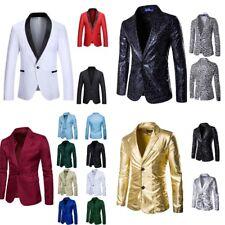 Bg _ стильные мужские повседневные узкие официальные, с одной пуговицей, костюмный пиджак, пальто, куртка топы SIG