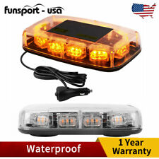 Roof Top Amber 30LED Strobe Light Emergency Signal Lamp Plug In Flasher Magnetic