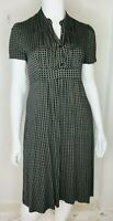 BNWOT SUSSANS Womens Size XL Or 16 Navy Blue Beige Stretch Work Office Dress