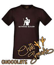 BATHROOM BLOGGER Funny Joke Toilet Humour T-shirt Vest Tshirt