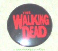 THE WALKING DEAD MOVIE BUTTON - THE HORROR !! Promotional -Has Poster Logo On It