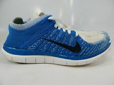 Details about Nike Free 4.0 Flyknit White Black Volt Size 12 Men Running Shoes [631053 100]