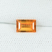 0.60Cts Best Luster Fanta Orange Natural (Mandarin) Spessatite Garnet Octagon