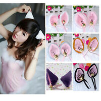 Cosplay Party Cat Fox Long Fur Ears Anime Neko Costume Hair Clip Orecchiette Set