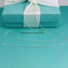 """Tiffany & Co NEW 18"""" Sterling Silver Chain Necklace"""